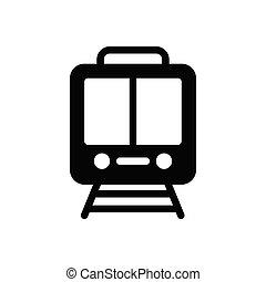 rail glyph flat icon