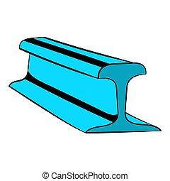 Rail line icon, icon cartoon