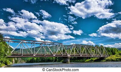 rail, métal, pont