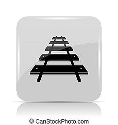 Rail road icon. Internet button on white background.