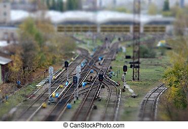 Rail road - Close-up of Rail road crossing
