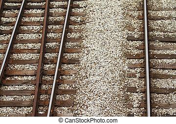 rail road tracks - graphic view of rail road tracks