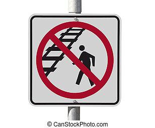 rail, sécurité, signe