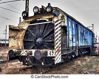 Rail snow plow