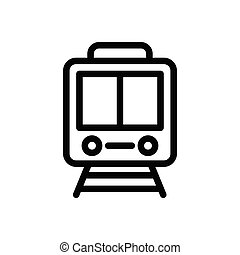 rail thin line icon