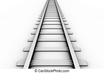 Rail track - 3D rendered illustration of a railroad track...