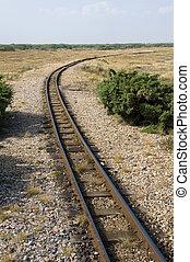 Rail tracks -  The rail tracks of a miniature steam railway