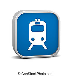 Rail transportation sign on a white background. Part of a...