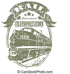 Rail transportation stamp