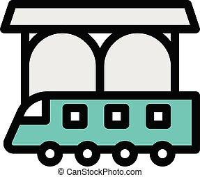 rail vector colour line icon