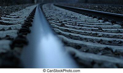 rail - waiting  for the train
