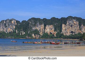 Railay Beach in Krabi province, Thailand.