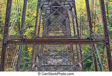 Railroad Trestle At Letchworth State Park In New York
