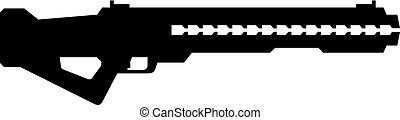 railgun, ręka, broń