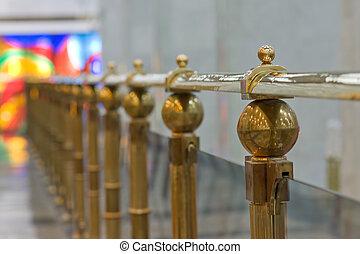 railing in gallery