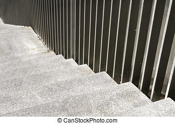 railings, alterato, scala, mano