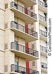railings, nero, balconi, ferro, lavorato