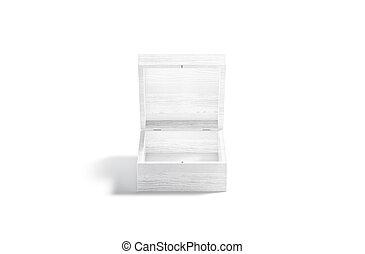 railler, ouvert, bois, haut, blanc, cadeau, vue, boîte, devant, vide