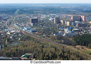 Railroad, aerial view