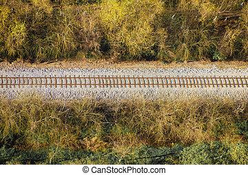Railroad Aerial View