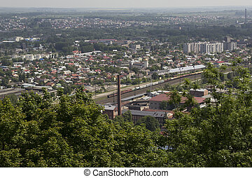railroad and the factory in Lviv