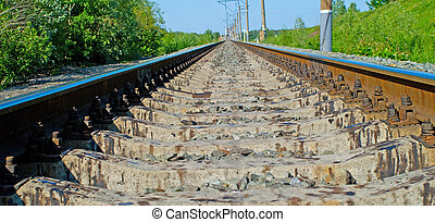 Railroad at noon