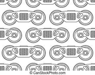 Railroad bogie pattern