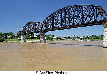 Railroad Bridge 1 - an old railroad bridge across the ohio ...