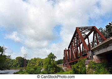 Railroad Bridge Crosses the White River - Old railroad ...