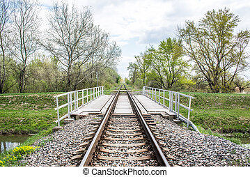Railroad bridge, front view