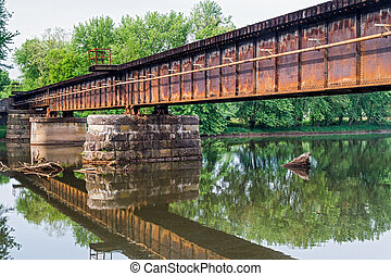Railroad Bridge over Middle Island Creek
