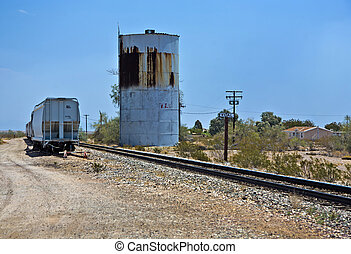 railroad crossing at route 95 near the village Vidal in open...