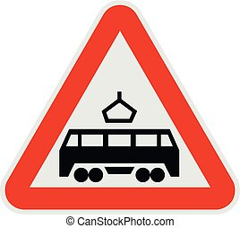 Railroad crossing icon, flat style.