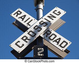 Railroad Crossing Sign - Old fashion Railroad Crossing...