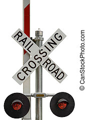 Railroad Crossing Sign - Isolated Rail Road Crossing Sign...