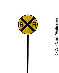 railroad crossing sign rural georgia
