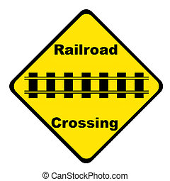 Railroad Crossing Sign - Isolated - Railroad Crossing Sign