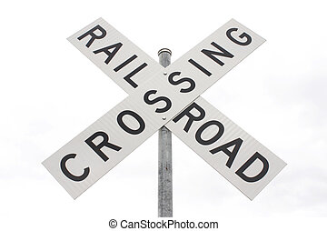 Railroad crossing sign.