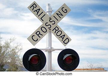 Railroad crossing sign - Vintage Rail Road Crossing Sign...