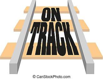 Railroad elements. Modern railways infrastructure. Railway transportation in the city. rails. Railroad tie. On Track