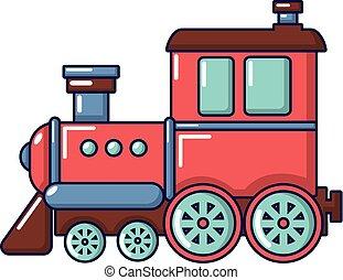 Railroad icon, cartoon style