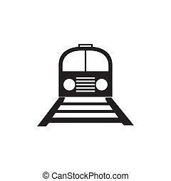 Railroad icon isolated on white background