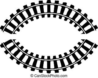 railroad icon on white background