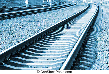 Railroad in perspective