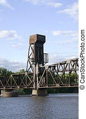 Railroad lift bridge in Hastings Minnesota - Railroad lift...
