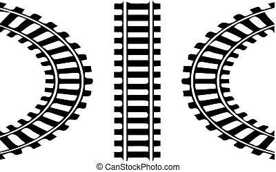 railroad logo on white background