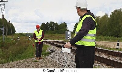 Railroad maitenence workers