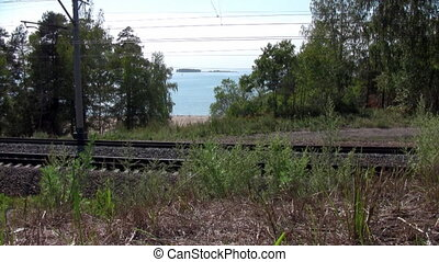 Railroad near the sea