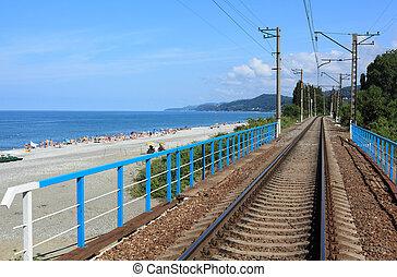 railroad on sea coast