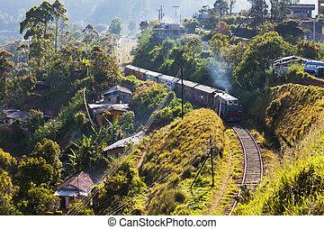 Railroad on Sri Lanka - railroad on Sri Lanka
